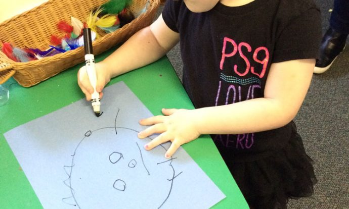 Drawing at Pied Piper Preschool